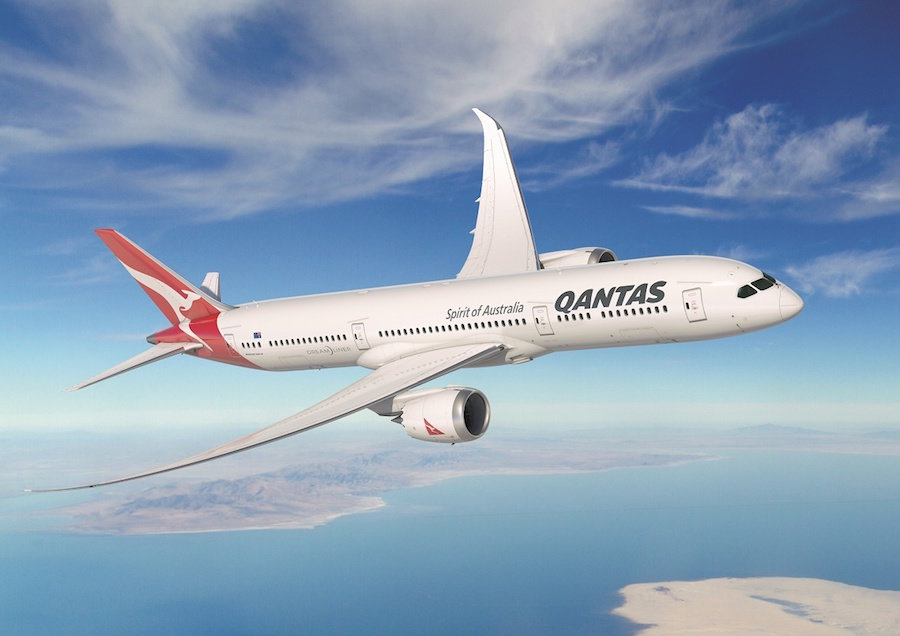 Qantas 787 from Perth