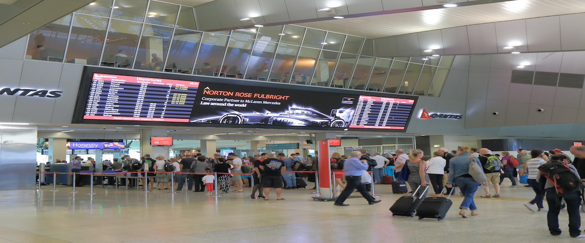 Australia airport delay